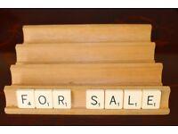 Four Original Scrabble Racks