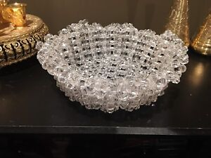 Decoration  Crystal basket Handmade