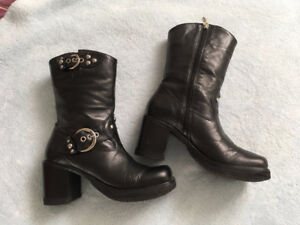 Ladies Harley Davidson Motorcycle Boots 8