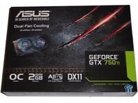 ASUS GEFORCE GTX 750ti 2GB Graphics card