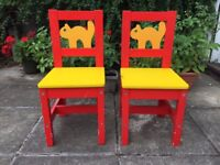 Two Ikea toddler chairs