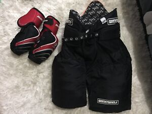 Hockey Pants and Elbow Pads