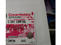 Selling 2x Creamfields Festival Tickets - Standard 3 Day Camping - £400 for 2