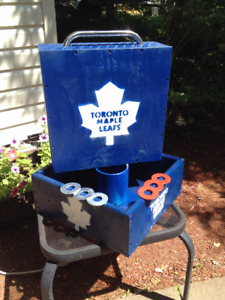 Washer toss set - Toronto Maple Leafs themed (handmade)