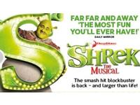 2 tickets for Shrek at Edinburgh Playhouse. Sat 23rd Dec 2017 @ 2.30pm 4 rows from front of stage.