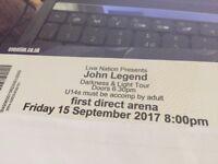 John Legend Darkness & Light Tour - First Direct Arena