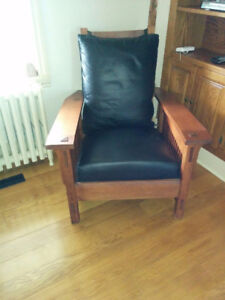 Gustav Stickley Inspired Reclining Morris Spindle Chair