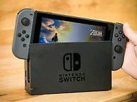 Nintendo Switch (black) come with Zelda and Just Dance. BOXED