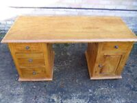 INDIAN SHEESHAM DOUBLE PEDESTAL DESK
