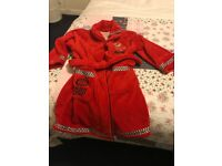 Lighting McQueen/cars dressing gown/housecoat Age 5-6