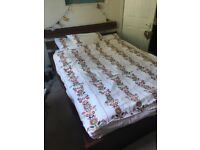 Selling double bed and mattress