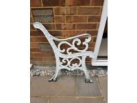 Set of cast iron bench ends