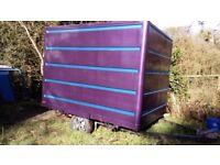 Box trailer, moto x trailer, kart trailer, fiberglass body, custom metallic paint job, new lights