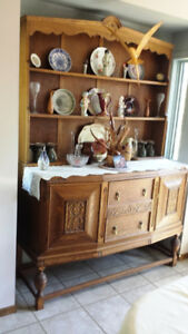 Antique Hutch and Sideboard