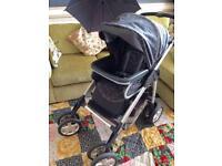 Silver cross travel system, pram,pushchair, car seat,£60ono