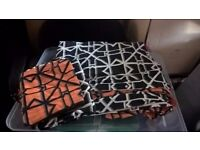geometric double duvet set