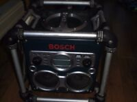 BOSCH CUBE SITE RADIO/BATTERY CHARGER 240v *WORKING*