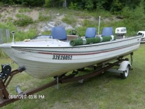 NEW PRICE 16 foot aluminium, 1974 Johnson 50 hp
