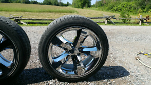 2012 chrome challenger rims 20""