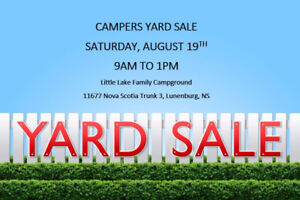 CAMPERS YARD SALE - RESCHEDULED TO AUGUST 26TH 9AM-1PM