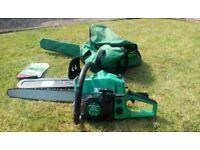 Greenline petrol chainsaw. 18inch blade