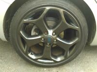"Ford ST 18"" 5x108 alloys with good tyres"