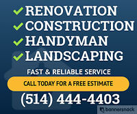 Renovation - Construction & Landscaping Services