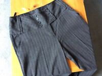 Brand New DP Women's High-Waisted Trousers, Size 16, Wide Leg incl Spare Buttons