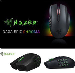 NEW RAZER NAGA EPIC CHROMA MULTI-COLOUR WIRELESS GAMING MOUSE WI