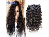 "10,12,14,16"" 7a Brazilian water wave virgin hair 4bundles/lot unprocessed human virgin hair"