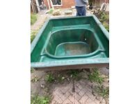 Used Large fibre glass pond