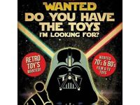 WANTED 70's and 80's boys toys like Star Wars