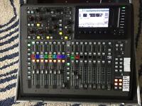 Behringer X32 compact digital mixer with flight case