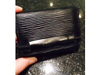 AUTHENTIC VINTAGE LOUIS VUITTON BLACK EPI LEATHER ELASTIC SLIMFOLD WALLET IN AMAZING CONDITION