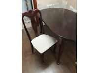 Oval Extendable Table and Six Chairs