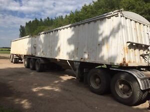 1990 super b grain trailers