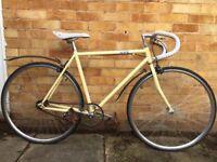 "21"" White/Cream Single Speed / Fixed Gear Bike"