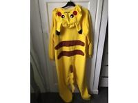 Adult Size Pikachu Drop Crotch Onesie ~ Barely Worn!