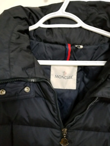 MONCLER Navy Blue 'Flamette' padded coat like new