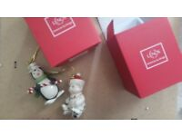BUNDLE OF 4 NEW LENOX & HALLMARK XMAS TREE ORNAMENTS - or available separately