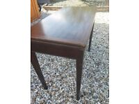 Retro card table with green baize top