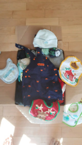 Box of baby cloths 0-12months