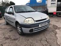 RENAULT CLIO RN SILVER PETROL LOW MILAGE 1149CC 60 BHP NATIONWIDE DELIVERY ***BARGAIN***