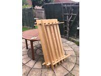 Double futon wooden frame