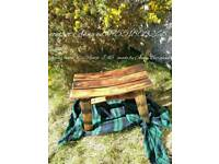 Recycled whisky barrel bench