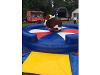 Rodeo bull from £100 bouncy castle party outdoor fun kids event