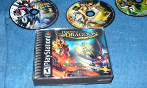 The Legend of Dragoon Playstation Game Black Label PS 1