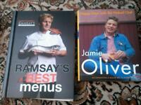 Hard backed cookery books
