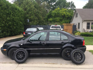 2004 Volkswagen Jetta Black Sedan