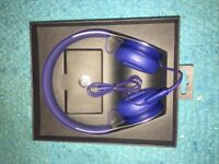 Blue Beats EP On-Ear Headphones fresh out of the box and for sale